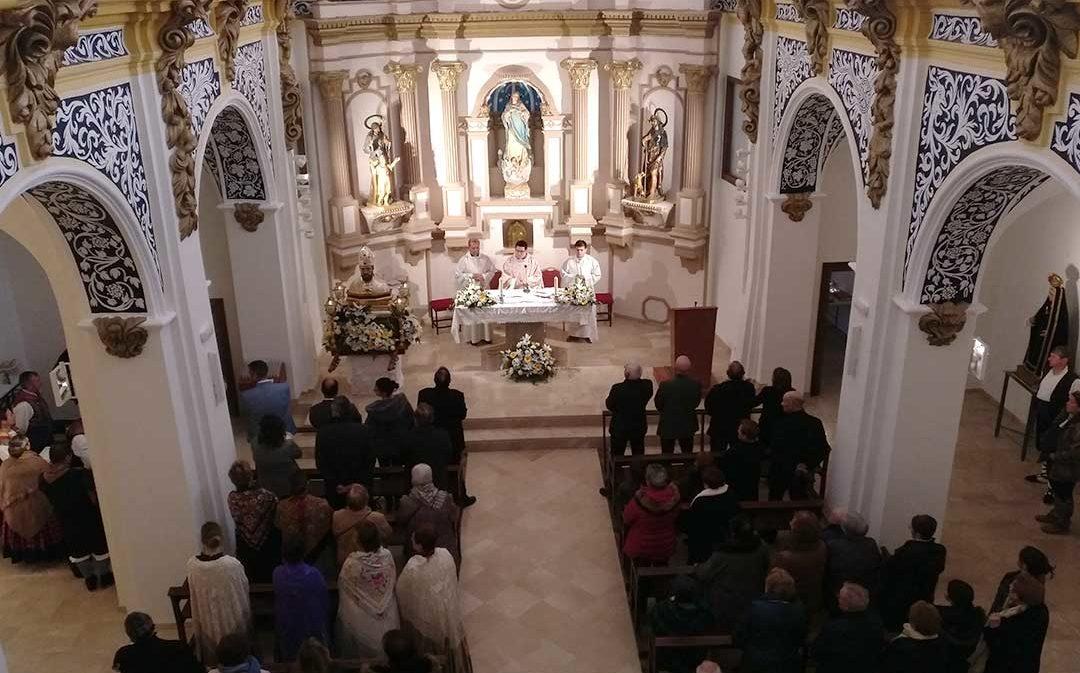 San Valero vuelve a salir de la iglesia de Castelnou