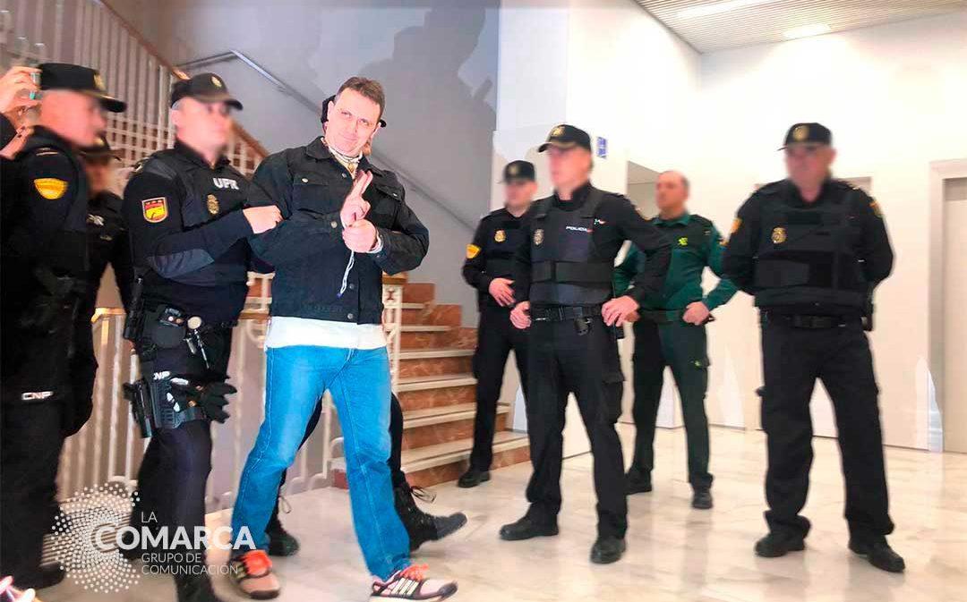 Igor el Ruso llega a Teruel sonriente y reconoce el intento de homicidio