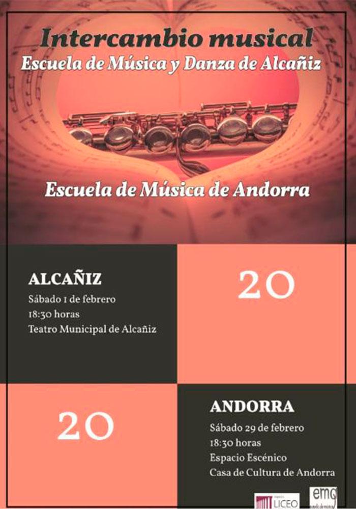 Encuentro entre la Escuela de Música y Danza de Alcañiz y la Escuela de Música de Andorra