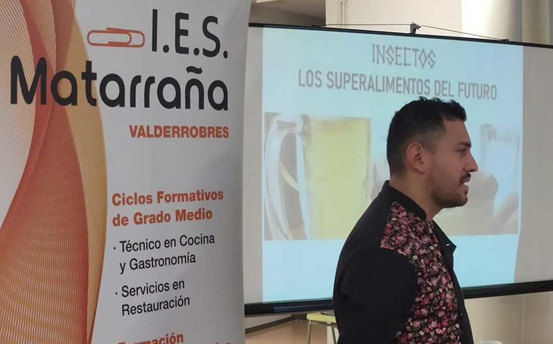 Los insectos, el cacao y la panceta, protagonistas de las XV Jornadas Gastronómicas del IES Matarraña