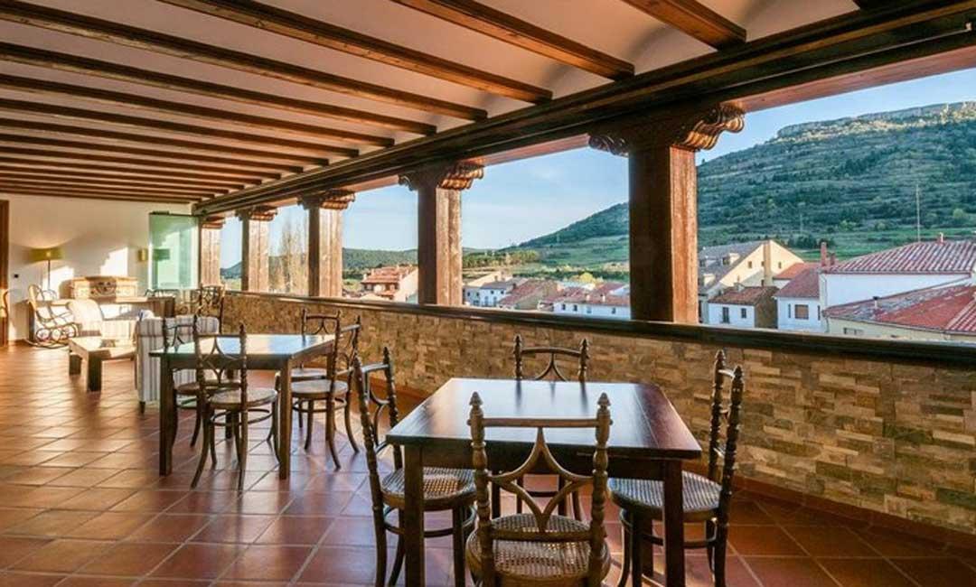 La hospedería de La Iglesuela del Cid cuenta con unas magníficas vistas sobre el entorno