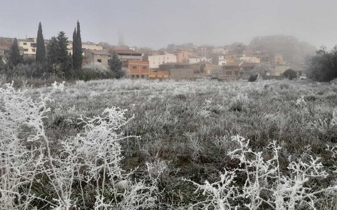 Mínima de -12,4º C en Fortanete y el domingo llegará la nieve a la provincia de Teruel