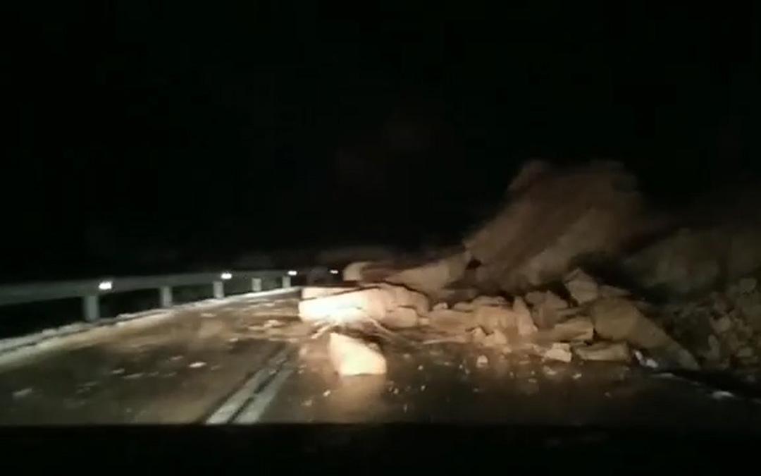 Desprendimiento en la carretera A-1412. / Odena Trill Obispo
