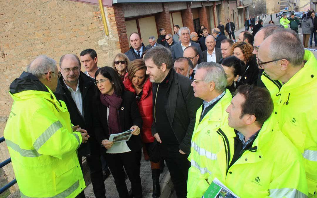 La Ministra Carolina Darias se reúne con los desalojados de Alcañiz y los empresarios de La Laguna