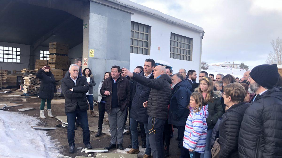 Pedro Sánchez compromete ayudas para Aragón en su visita a Cantavieja