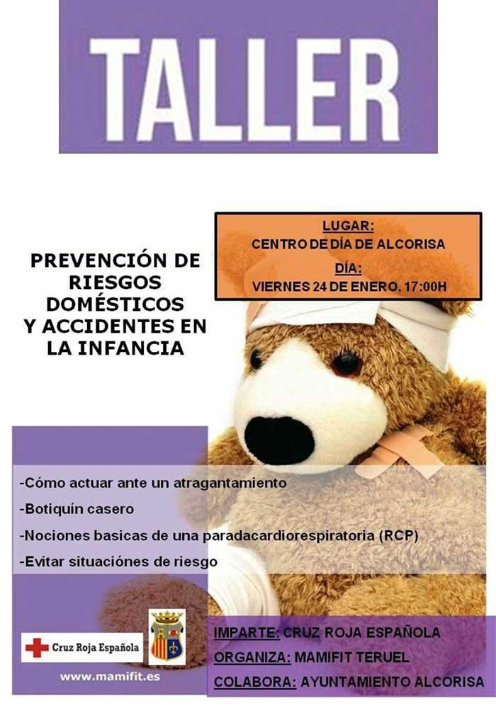 Taller de prevención de riesgos domésticos en Alcorisa
