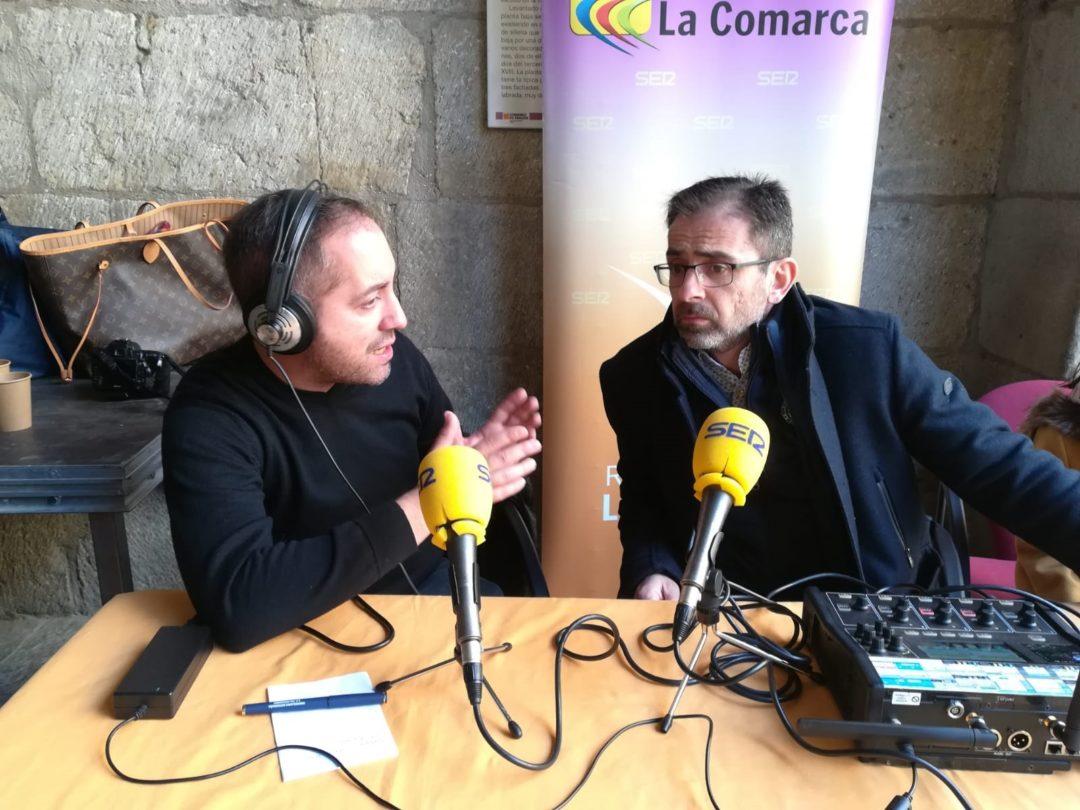 Carlos Boné, alcalde de Valderrobres, durante el programa especial./ L.C.