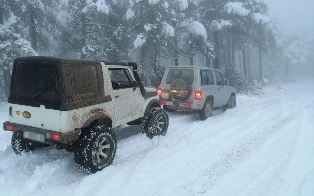 Nieve en los Puertos de Beceite. / Javier de Luna