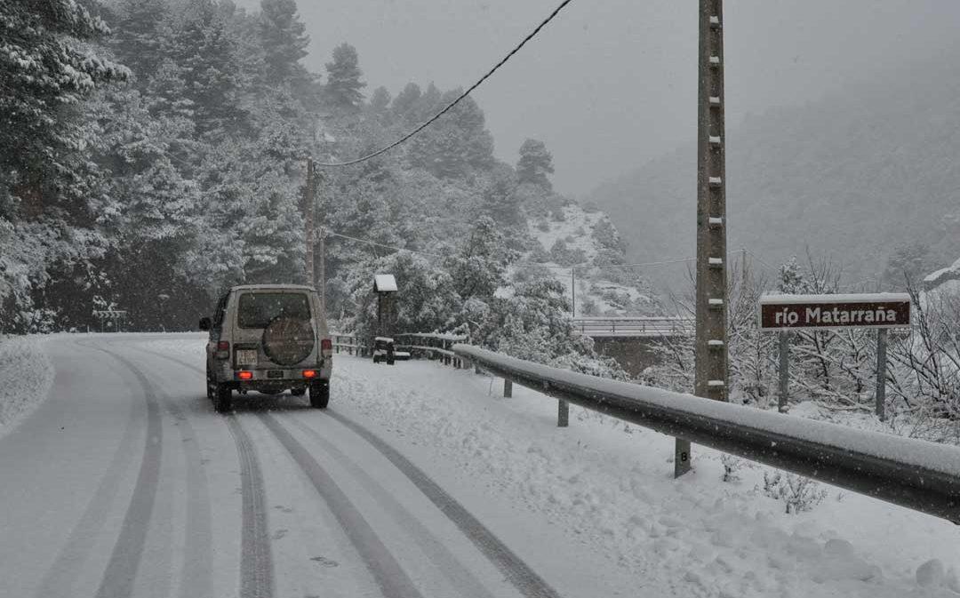 Borrasca Gloria: nieve en el Bajo Aragón Histórico