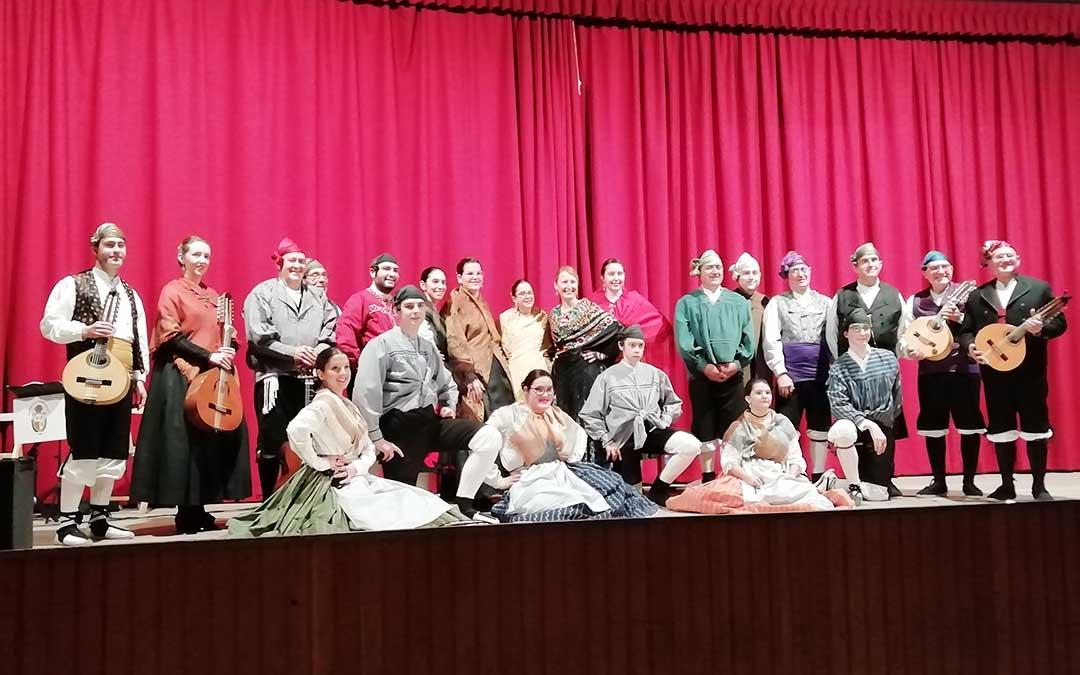 La Rondalla Compromiso de Caspe actuó durante las fiestas fayonenses.