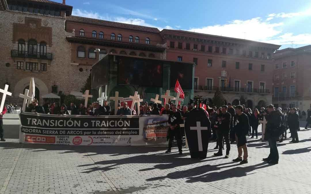 Los trabajadores de la Térmica llaman a la movilización del sábado 29 de febrero en Zaragoza