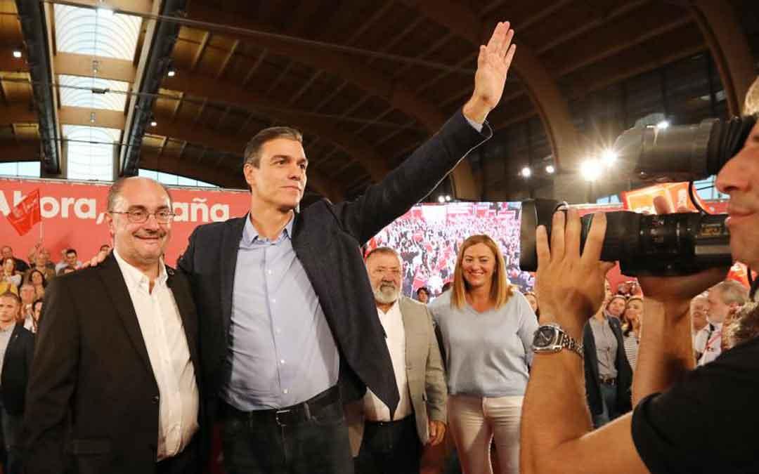 Última visita de Pedro Sánchez a Teruel durante la campaña de noviembre. HERALDO DE ARAGÓN