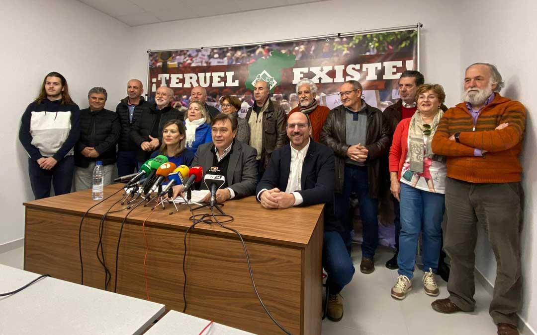 Imagen de archivo. Rueda de prensa de Teruel Existe.