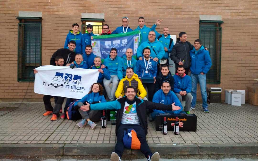 23 representantes del A.O.C. Tragamillas compitieron en el Campeonato de Aragón de Duatlón Cros por Equipos.