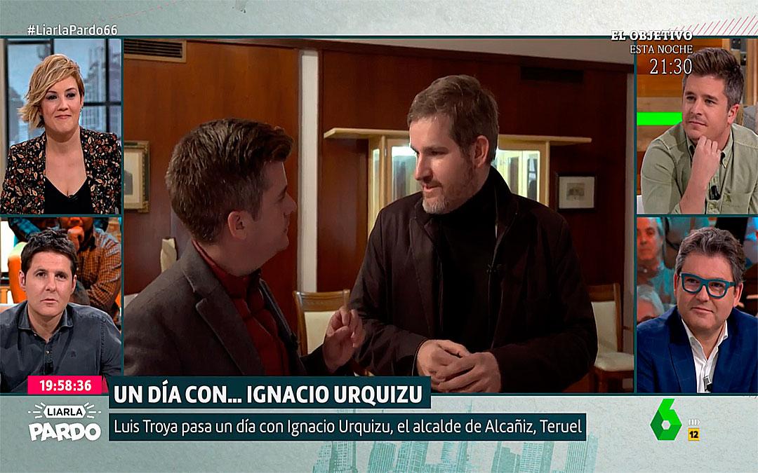 El alcalde de Alcañiz, Ignacio Urquizu, en el programa 'Liarla Pardo' de La Sexta.
