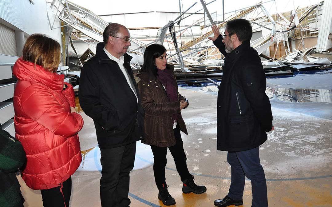 Alcaldes y empresarios del Matarraña piden a la Ministra ayuda urgente para paliar los daños del temporal