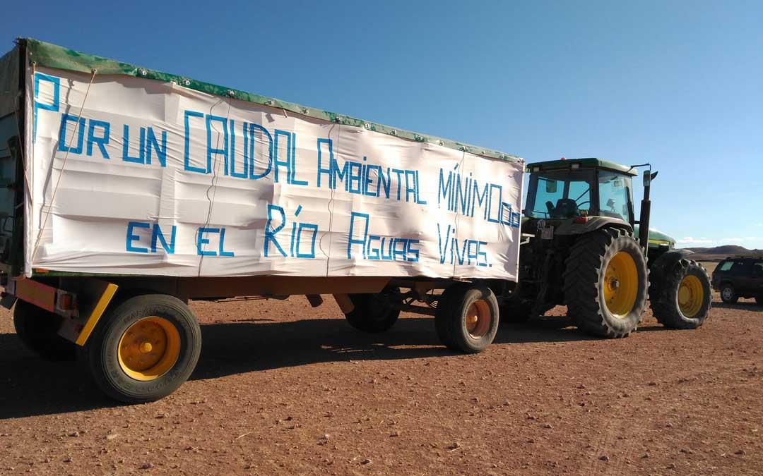 Imagen de la manifestación de agosto de 2018 en Almochuel. / B. S.