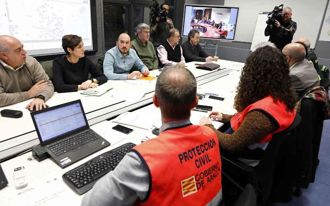 Aragón activa la Unidad Militar de Emergencia y eleva al nivel 2 el Plan de Protección Civil