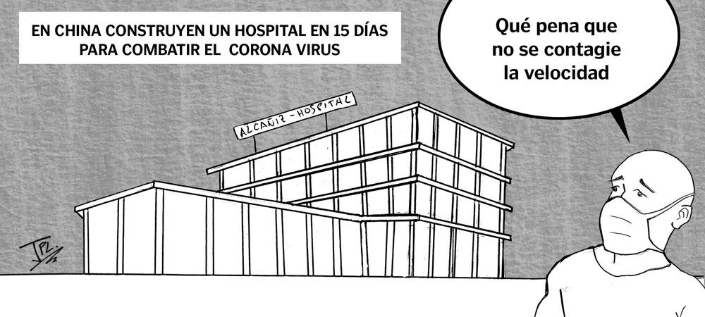 Humor gráfico - corona virus - Hospital alcañiz