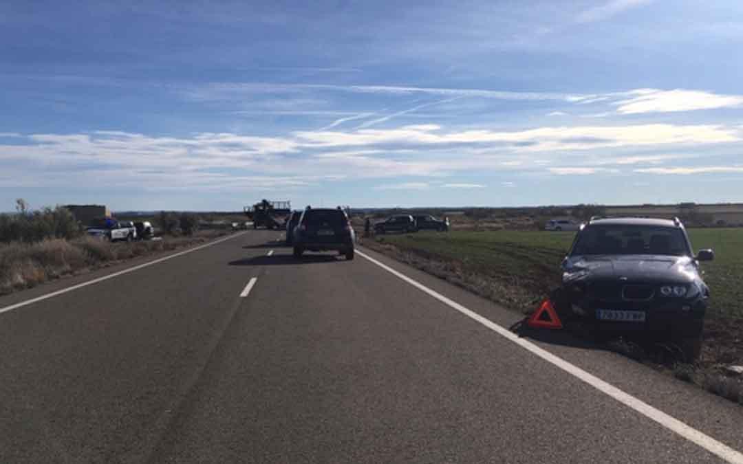 Los vehículos no se retiraron de la vía hasta pasadas las once de la mañana