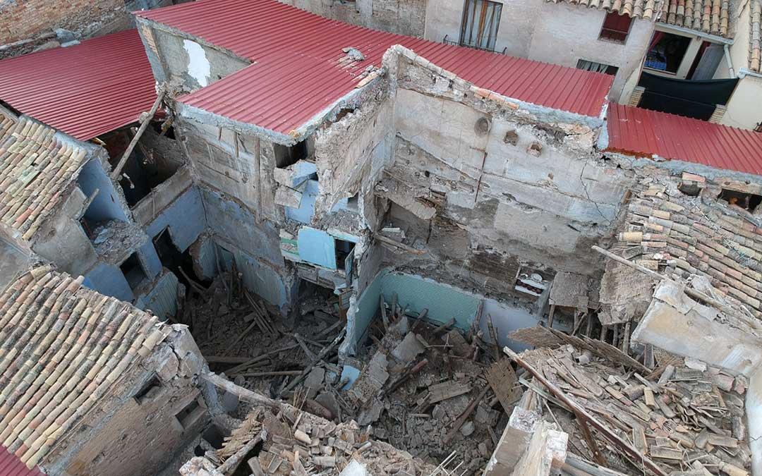 Imagen de algunas de las viviendas cuya fachada da al Cantón Curto./ Ayto. Albalate del Arzobispo