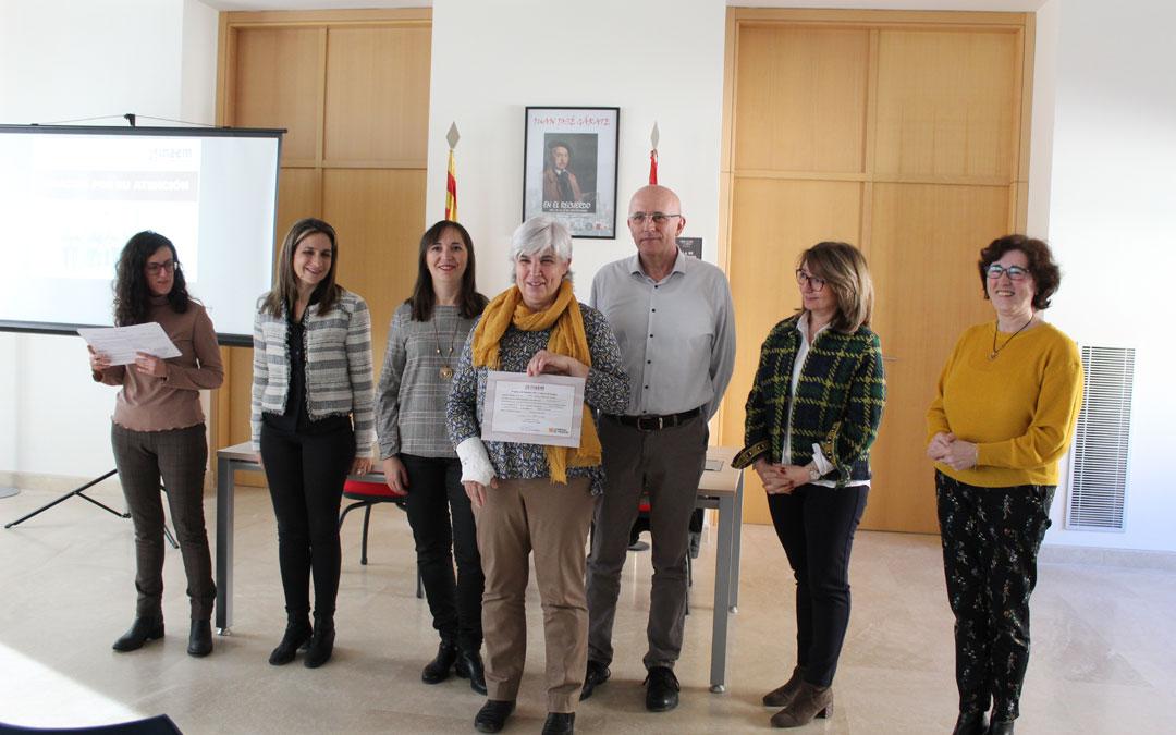 Entrega de certificados del Taller de empleo sociosanitario de la Comarca del Bajo Martín. / B. Severino