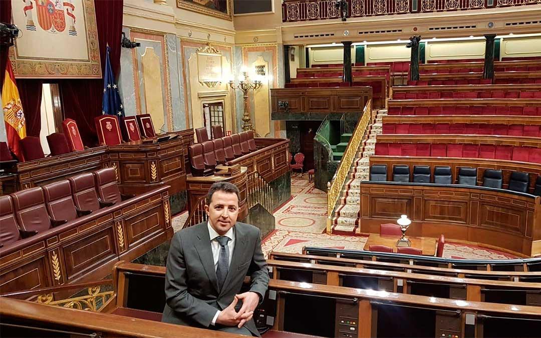 El popular Alberto Herrero en el Congreso de los Diputados./ PP