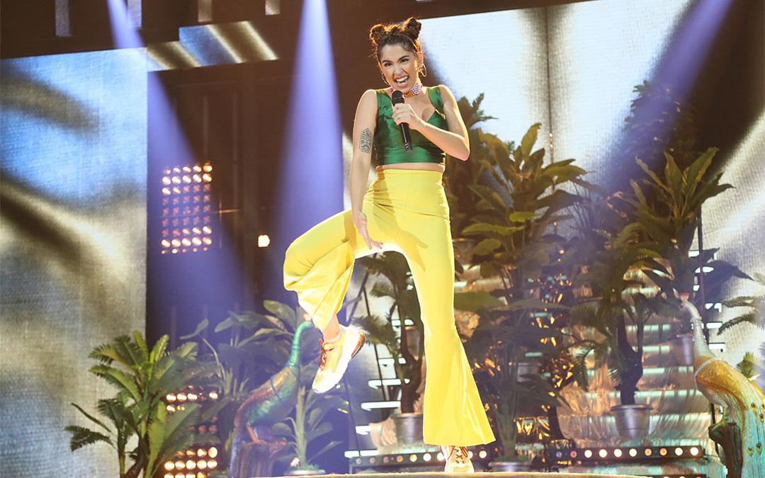 Anaju durante su actuación en la Gala 5 de Operación Triunfo./ RTVE
