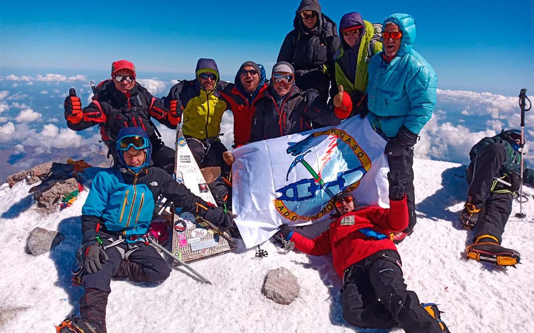La expedición de un alcañizano al Elbrus, la cima más alta de Europa