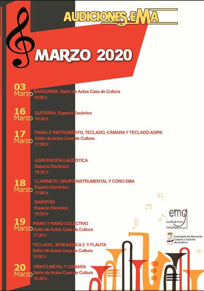 Audiciones en la Escuela de Música de Andorra