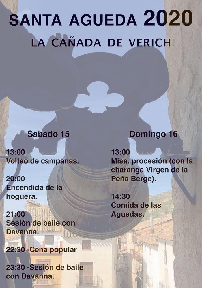 Festividad de Santa Águeda en La Cañada de Verich