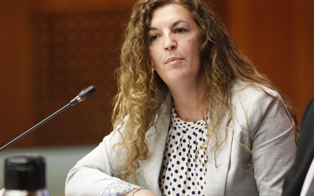 Beatriz Acín (Cs) durante la comisión de este jueves./LA COMARCA