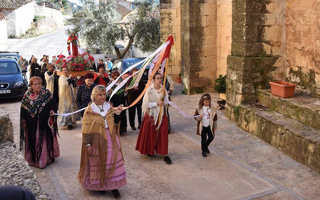 Procesión en honor a Santa Águeda./ Laura Quílez