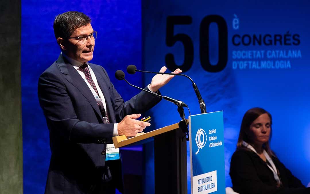 El doctor Castro en el Congreso de la Sociedad Catalana de Oftalmología