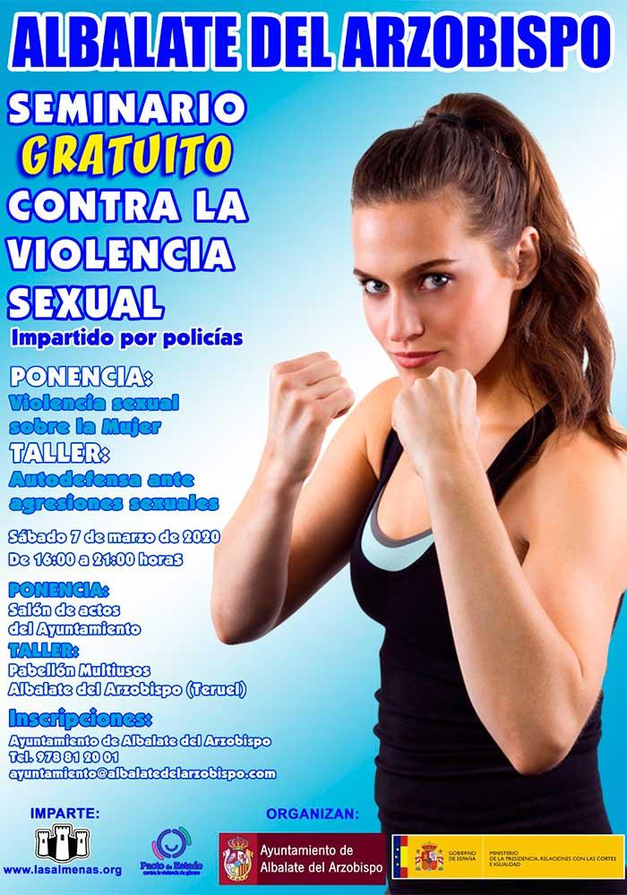 Seminario gratuito contra la violencia sexual en Albalate del Arzobispo