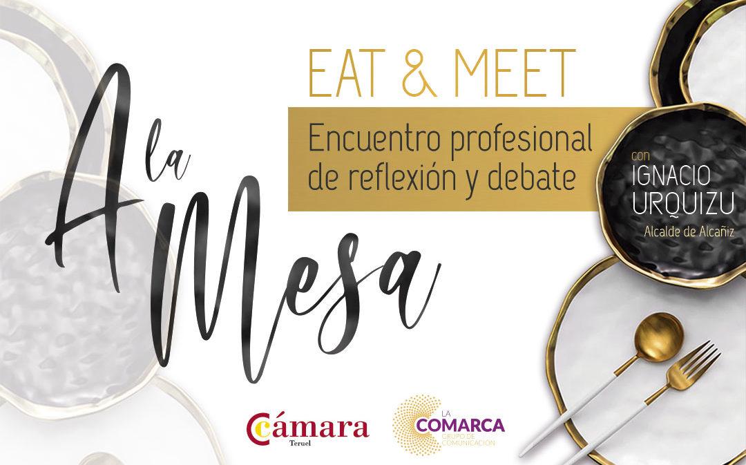 Eat&Meet sienta 'A la Mesa' a Ignacio Urquizu con empresarios de Alcañiz