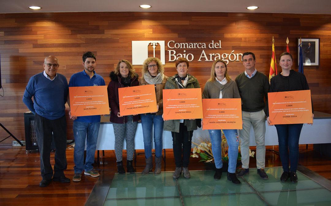 La Comarca del Bajo Aragón subvenciona a seis empresas del territorio lideradas por mujeres