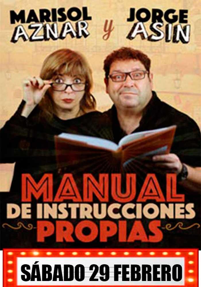"""""""Manual de instrucciones propias"""" de Marisol Aznar y Jorge Asín en Alcañiz"""