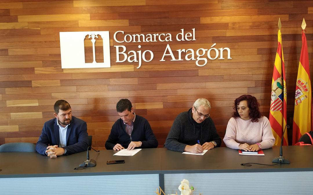 El Bajo Aragón y Protección Civil firman su convenio de colaboración