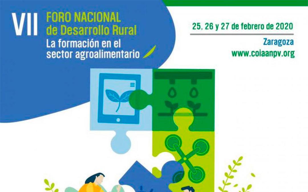 Cartel anunciador del VIIForo Nacional de Desarrollo Rural./ Coiaanpv