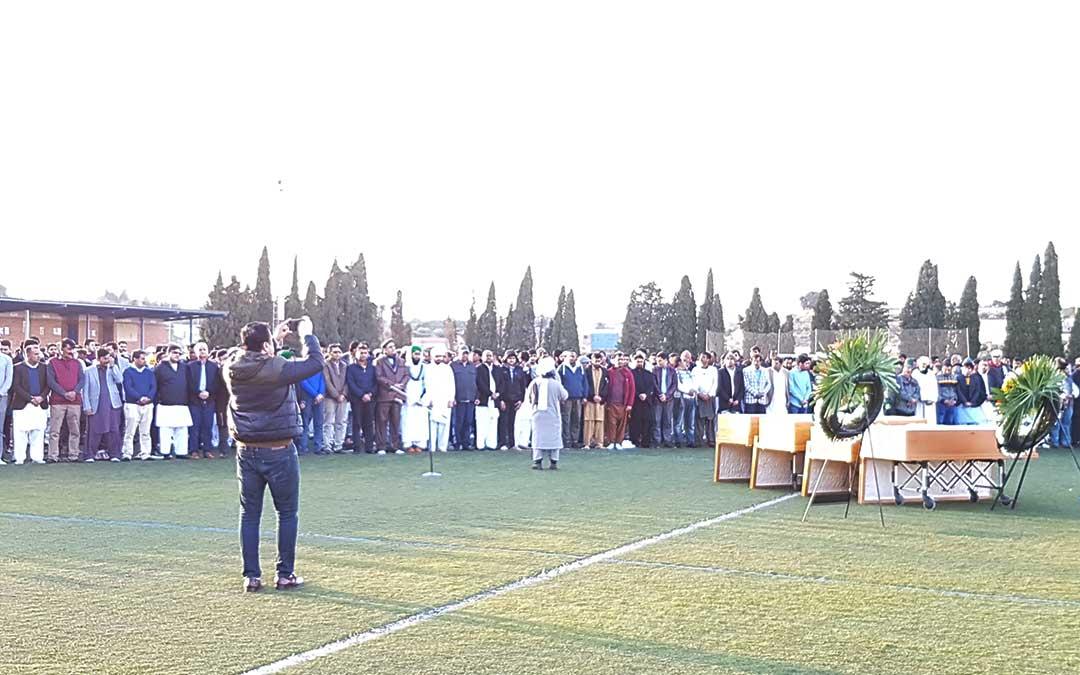 Imagen del funeral celebrado en Caspe este martes.