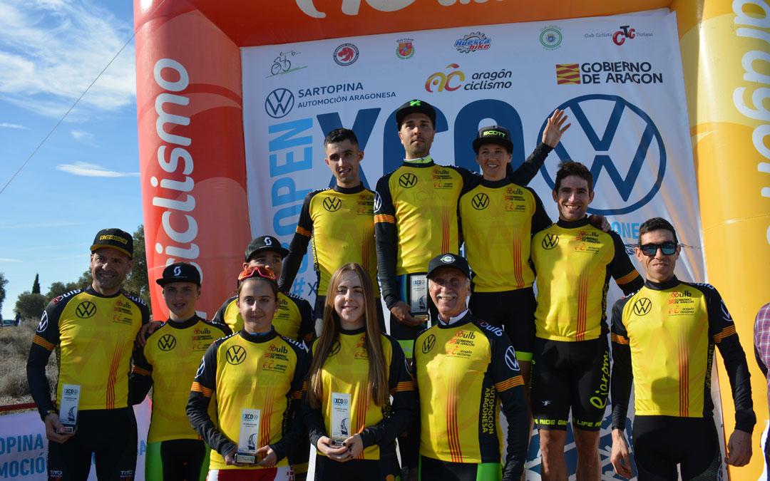 Ganadores de todas las categorías en la I XCO 'Ciudad de Alcañiz'./I.M.