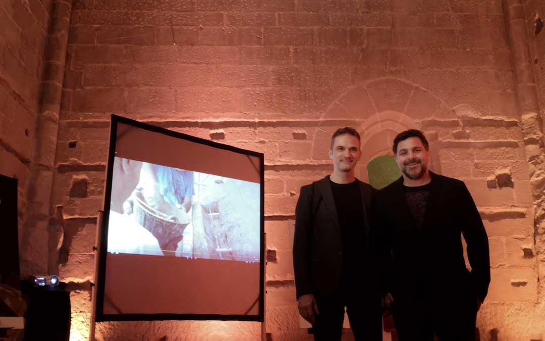 El productor y realizador José Ángel Guimerá (a la dcha) junto al director de las obras, José Ángel Gil