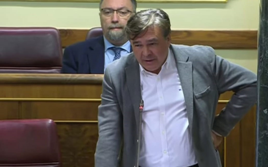 Tomás Guitarte durante la sesión de control este miércoles./LA COMARCA