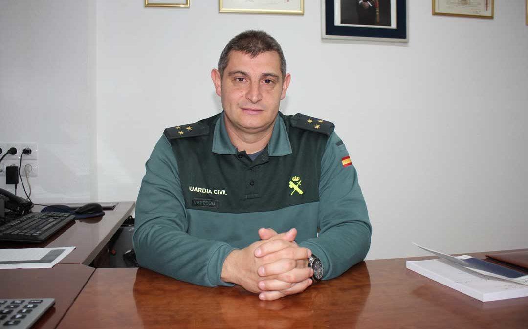 El capitán de la Guardia Civil  de Alcañiz se traslada a Jaén