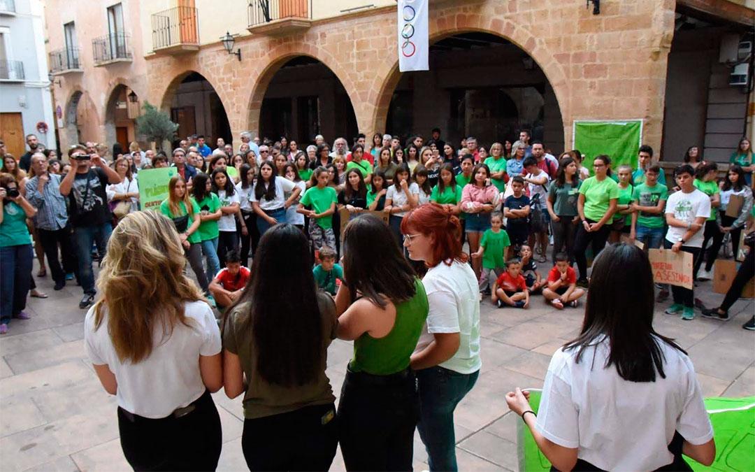 'Fridays for Future Alcorisa' se unió a la Huelga Mundial por el Clima, celebrada el pasado 27 de septiembre de 2019./ Marcos Royo