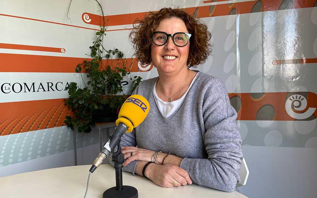Isabel Herrera, presidenta del Centro Comercial Abierto Alcañiz Detiendas./ A.M.