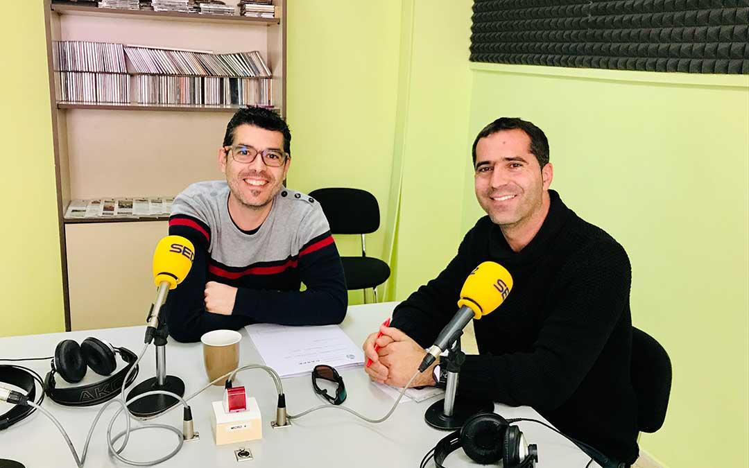 Los concejales de Caspe José Manuel Jariod y Gabriel Luena.