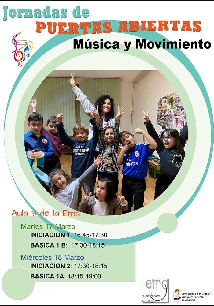 Jornada de Puertas Abiertas en la Escuela de Musica de Andorra