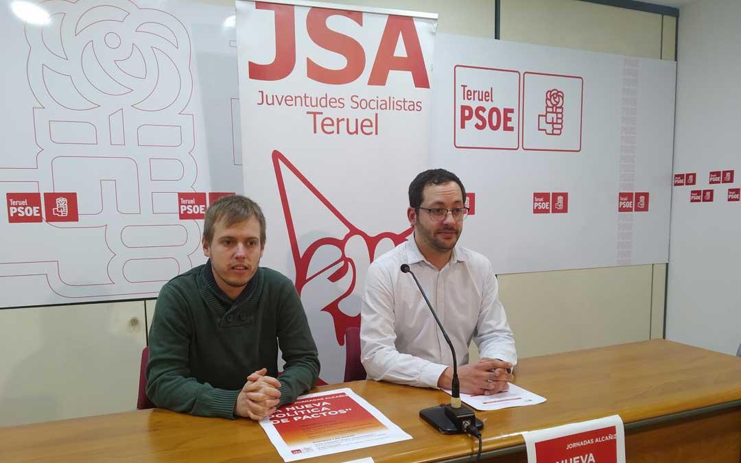 Las jornadas han sido presentadas este miércoles en rueda de prensa por el secretario general de Juventudes Socialistas en la provincia, Ángel Peralta; y su homólogo en la ciudad de Teruel, Juan Navío / PSOE